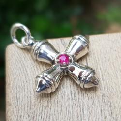 Silver cross, Cardinal Ruby
