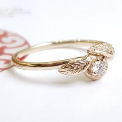 Златен пръстен с Брилянт и...