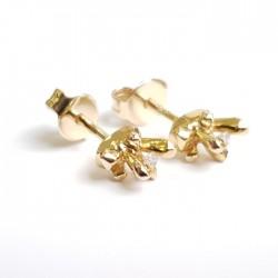 Златни обеци с Брилянти,...