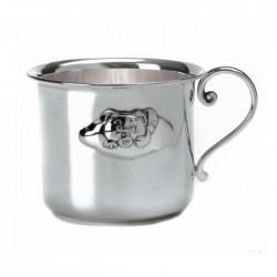 Сребърна чаша с мече с облак