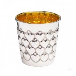 Сребърна чаша с позлата и...