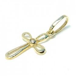 Златен кръст с циркон