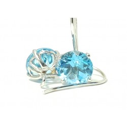 Earrings Napoli ,Blue Topaz