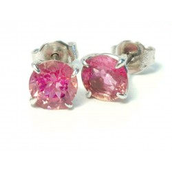 Earrings , Pink Tourmaline